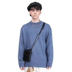 LAMO ROUND-NECK KNIT (BLUE)