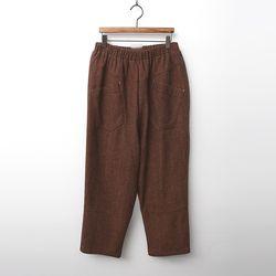 Wool Cotton Baggy Pants - 기모안감