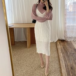 Feather Cami Long Dress