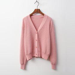 Angora Wool Crop Cardigan