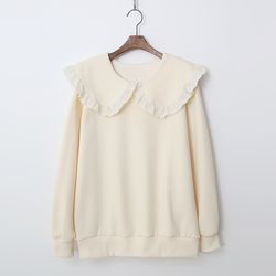 Gimo Sailor Frill Sweatshirt - 기모안감