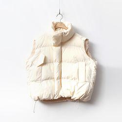 Boxy Puffer Vest- 웰론