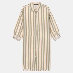 변형 스트라이프 롱 셔츠 DAYC19W14