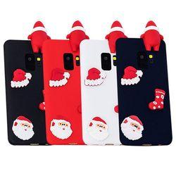 아이폰12 빼꼼 3D 크리스마스 실리콘 케이스 P209