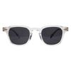 Tar Sunglasses - Clear (Smoke Black Lens)