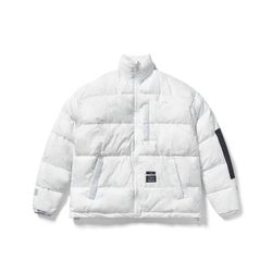 DV SHORT PADDING JACKET MARBLE WHITE