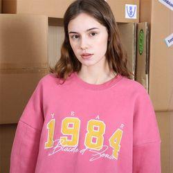 1984 코듀로이 피치기모 스웨트셔츠-인디핑크