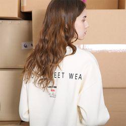 시그니처 로고 스웨트셔츠-크림