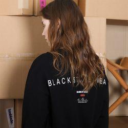 시그니처 로고 스웨트셔츠-블랙