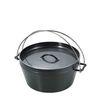 더치오븐 8인치 흑피철판 캠핑용 무쇠냄비