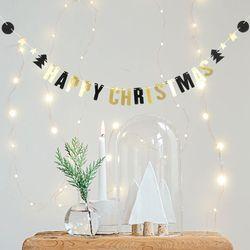 (인디고샵)미니 반짝이는 크리스마스 가랜드