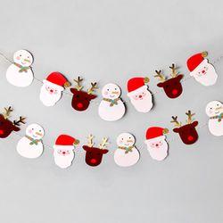(인디고샵)산타와 친구들 가랜드