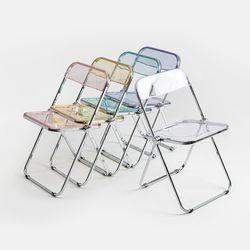 플로우 투명 의자