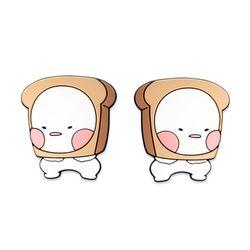 (PMC)옴팡이 자동차도어가드2P 식빵모양 흠집방지 문콕방지
