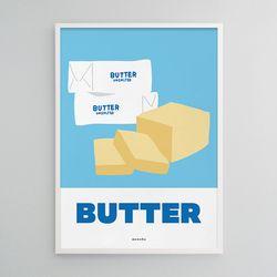 버터 M 유니크 디자인 포스터 카페 베이커리 A3(중형)