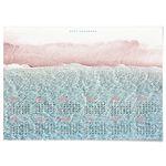 대형 2021 달력 패브릭 천 포스터 풍경 바다 액자 파도