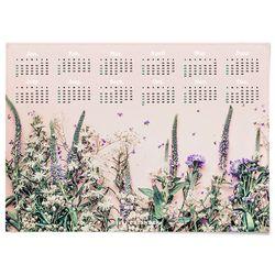 대형 2021 한장 달력 패브릭 천 포스터 그림 식물 액자 들꽃
