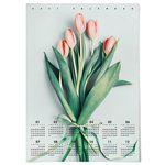 대형 2021 벽걸이 한장 달력 패브릭 포스터 꽃 그림 액자 튤립