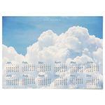 대형 2021 벽걸이 달력 패브릭 천 포스터 풍경 액자 뭉게 구름