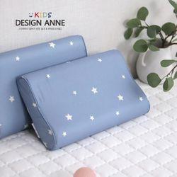 알러지케어 스타 아동메모리폼베개-블루