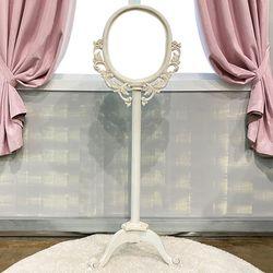 엔틱가구 화이트빈티지 스탠드 거울 인테리어거울