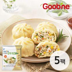 [무료배송] 굽네 ROAD DAK 단백질 가득 닭가슴살 만두 100 청양고추 5팩