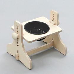 힐링타임 높이조절 원목식탁-1구 (도자기-블랙) sj