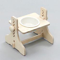 힐링타임 높이조절 원목식탁-1구 (도자기화이트) sj