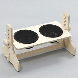 힐링타임 높이조절 원목식탁-2구 (도자기블랙) sj