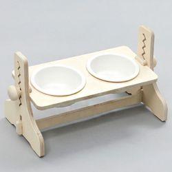 힐링타임 높이조절 원목식탁-2구 (도자기화이트) sj