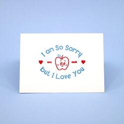 미안하다 사랑한다 레터프레스 카드