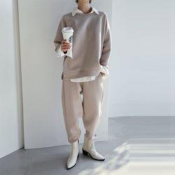 [Set] Neo Sweatshirt   Easy Baggy Pants