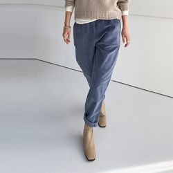 Corduroy Semi Baggy Pants