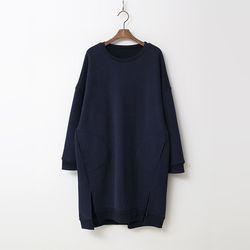 Gimo Twin Pocket Long Sweatshirt  - 기모안감