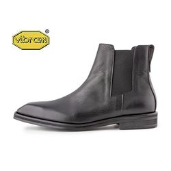 SQUARE TOE CHELSEA BOOTS
