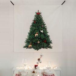 크리스마스 파인트리 패브릭포스터 120x120cm