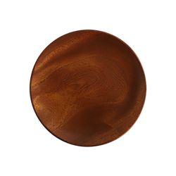 마호가니 우드 원형접시 나무접시 체스넛S 13cm