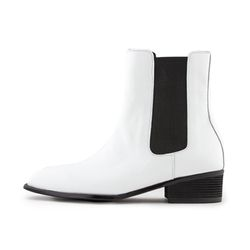 SQUARE TOE CHELSEA BOOTS[WHITE]