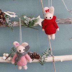 울 목도리 토끼인형 - 2color