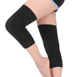 편안한 무릎 보온 보호대 2p세트(M) (블랙)
