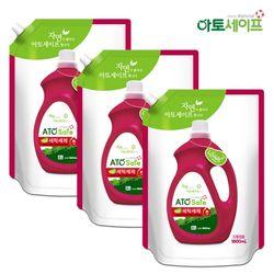 아토세이프 액체 세탁 세제 1.8L 3개