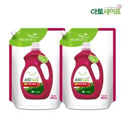 아토세이프 액체 세탁 세제 1.8L 2개