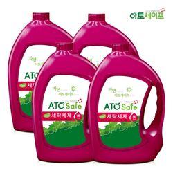 아토세이프 액체 세탁 세제 대용량 3.1L 4개