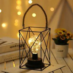 감성 호야등 사각 캠핑 램프 LED