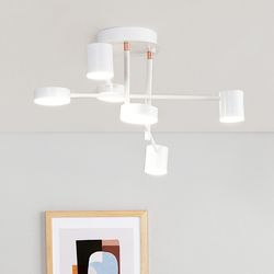 루덴 6등 LED 인테리어 직부등 60W [블랙][화이트]