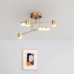 루덴 6등 LED 인테리어 직부등 60W [골드]