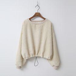 Joe Corduroy Crop Sweatshirt