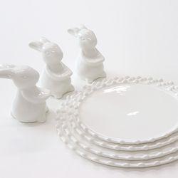 토끼 물방울 접시 디저트 케이크 스탠드
