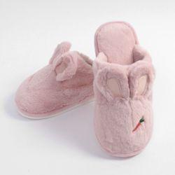 당근토끼 겨울 털슬리퍼(핑크) (235240mm)