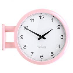 (ktk167)저소음 모던핑크 양면시계 A5